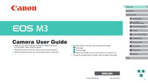 Canon EOS M3 instruction manual (reprint)