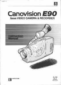 Canon E90 instruction manual (reprint)