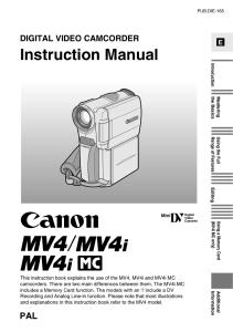 Canon MV4 / M4i / MV4iMC instruction manual (reprint)