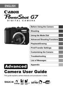 Canon PowerShot A630 / A640 instruction manual (reprint)