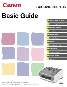 Canon L120/ L100/ L95 instruction manual (reprint)