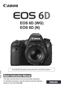 Canon EOS 6D basic instruction manual (reprint)