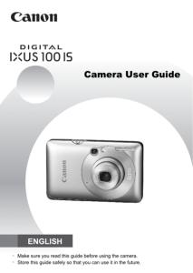 Canon IXUS 100 IS instruction manual (reprint)