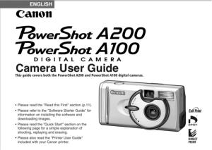Canon PowerShot A100 / A200 instruction manual (reprint)