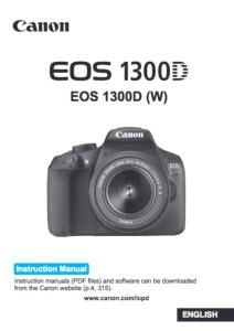 Canon EOS 1300D instruction manual (reprint)