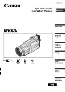 Canon MV750i / MV730i / MV700i / MV700 / MV690 instruction manual (reprint)
