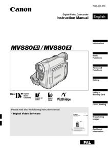 Canon MV880Xi / MV800X instruction manual (reprint)