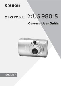 Canon IXUS 980 IS instruction manual (reprint)