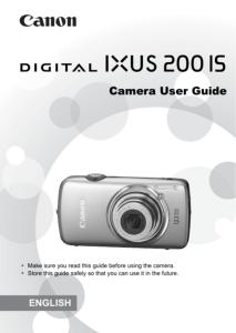Canon IXUS 200 IS instruction manual (reprint)