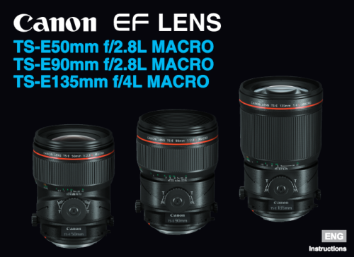 Canon TS-E 50mm f/2.8L macro instruction manual (reprint)