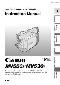 Canon MV550i / MV530i instruction manual (reprint)