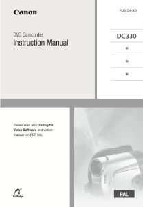 Canon DC330 Camcorder instruction manual (reprint)