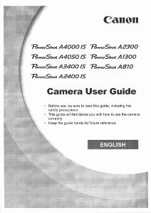 Canon PowerShot A4000 / A4050 / A3400 / A2400 / A2300 / A1300 / A810 IS instruction manual (reprint)