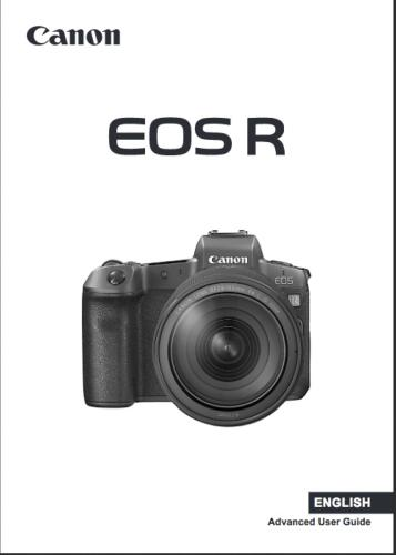 Canon EOS R instruction manual (reprint)