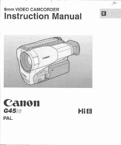 Canon G45 Hi instruction manual (reprint)