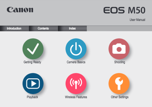 Canon EOS M50 instruction manual (reprint)