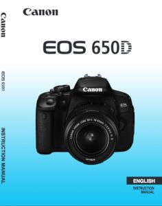 Canon EOS 650D instruction manual (reprint)