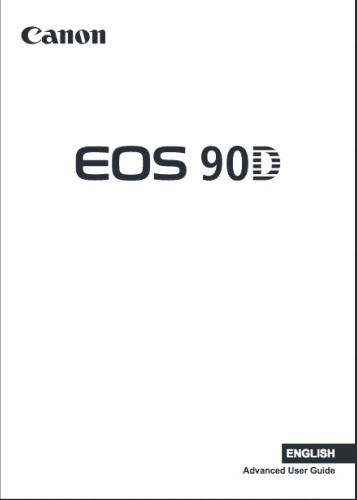 Canon EOS 90D instruction manual (reprint)