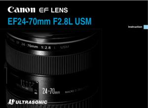 Canon EF 24-70mm f2.8L USM instruction manual (reprint)