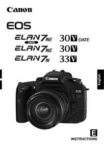 Canon EOS 30V instruction manual (reprint)