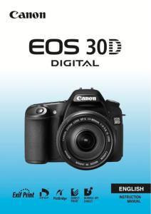 Canon EOS 30D instruction manual (reprint)