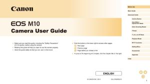 Canon EOS M10 instruction manual (reprint)