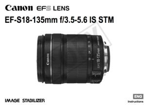 Canon EF-S 18-135mm f/3.5-5.6 IS STM instruction manual (reprint)
