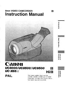 Canon UC8000 / UC8500 / UC9500 / UC-X65Hi instruction manual (reprint)