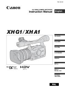 Canon XH G1/ XH A1 instruction manual (reprint)
