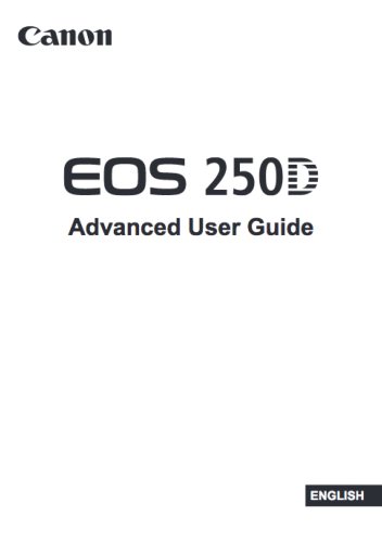 Canon EOS 250D instruction manual (reprint)