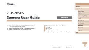 Canon IXUS 285 HS instruction manual (reprint)
