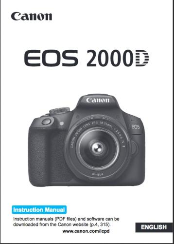 Canon EOS 2000D instruction manual (reprint)