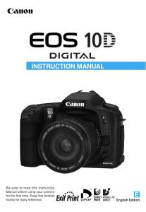 Canon EOS 10D instruction manual (reprint)