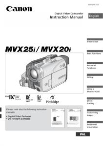 Canon MVX25i / 20i instruction manual (reprint)