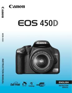 Canon EOS 450D instruction manual (reprint)