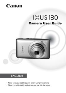 Canon IXUS 130 IS instruction manual (reprint)