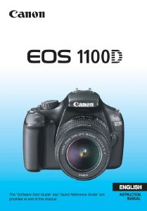 Canon EOS 1100D instruction manual (reprint)
