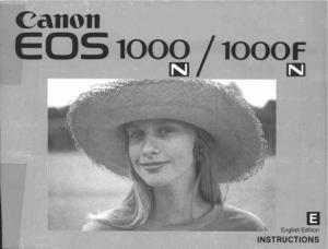 Canon EOS 1000N/ 1000FN instruction manual (reprint)