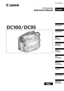Canon DC100 / DC95 instruction manual (reprint)