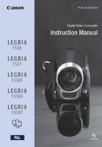 Canon FS36 / FS37 / FS305 / FS306 / FS307 instruction manual (reprint)