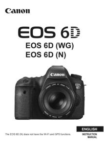 Canon EOS 6D instruction manual (reprint)