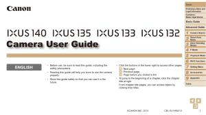 Canon IXUS 133 / 132 / 135 / 140 instruction manual (reprint)