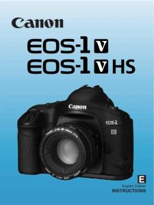 Canon EOS-1V instruction manual (reprint)