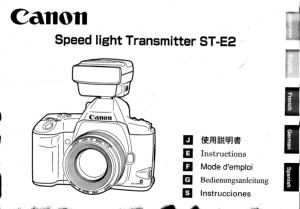 Canon Speedlite Transmitter ST-E2 instruction manual (reprint)