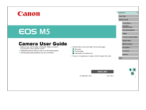 Canon EOS M5 instruction manual (reprint)