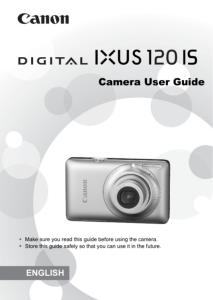 Canon IXUS 120 IS instruction manual (reprint)