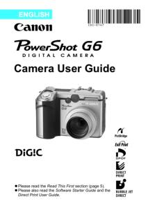 Canon PowerShot G6 instruction manual (reprint)