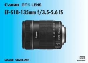 Canon EF-S 18-135mm f/3.5-5.6 IS instruction manual (reprint)