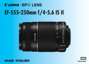 Canon EF-S 55-250mm f/4-5.6 IS II instruction manual (reprint)