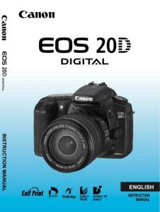 Canon EOS 20D instruction manual (reprint)